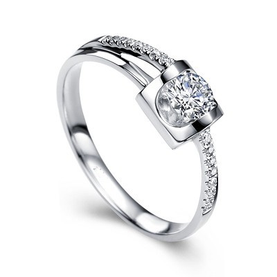 Magnetic Cheap Solitaire Wedding Ring Half Carat Round Cut
