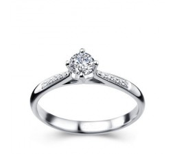 1/2 Carat Diamond Ring on 10k White Gold