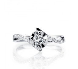 1/3 Carat Diamond Engagement Ring on 10k White Gold