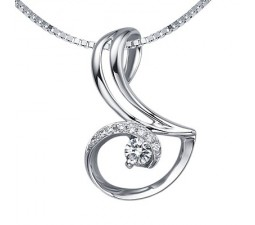 1/4 Carat Diamond Pendant on 10k White Gold