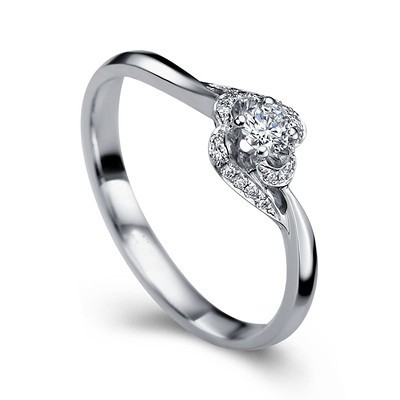 Diamond Engagement Ring Promise Ring on 9ct White Gold on Sale