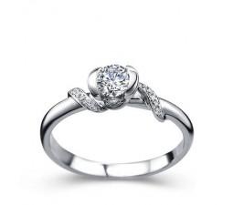 Beautiful Diamond Engagement Ring on 10k White Gold