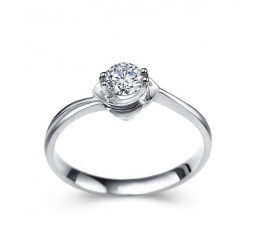 1/3 Carat Diamond Solitaire Ring on 10k White Gold