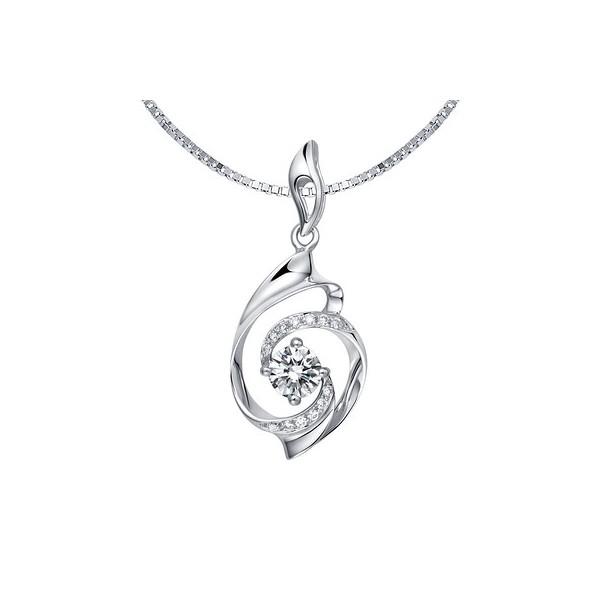 Luxurious swirls diamond pendant on 9ct white gold jeenjewels 110 carat diamond pendant on 10k white gold aloadofball Gallery
