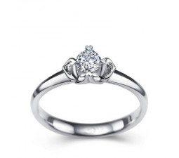 1/5 Carat Diamond Solitaire Engagement Ring on 10k White Gold