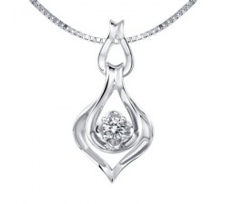 1/20 Carat Diamond Pendant on 10k White Gold