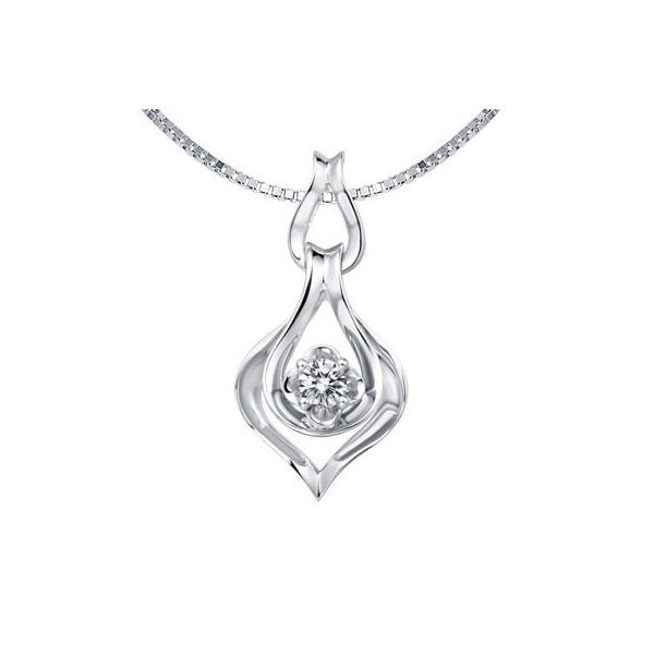 1/20 Carat Diamond Pendant on 10k White Gold