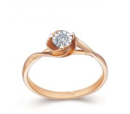 Affordable Diamond Promise / Solitaire Ring on 18k Rose Gold