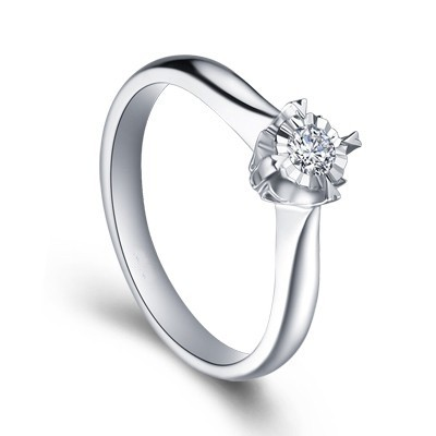 affordable solitaire ring promise ring on 9ct