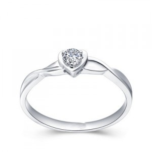 rings hearts solitaire diamond engagement ring promise ring on sale
