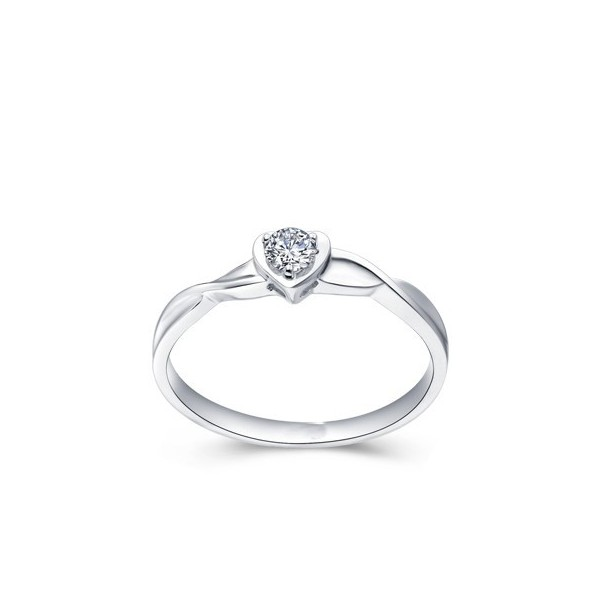 Diamond Rings For Sale Cheap: Classic Heart Ring Cheap Solitaire Engagement Ring 0.25