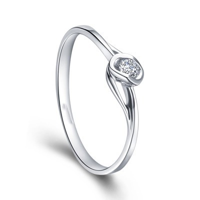 cheap promise ring on 9ct white gold on sale