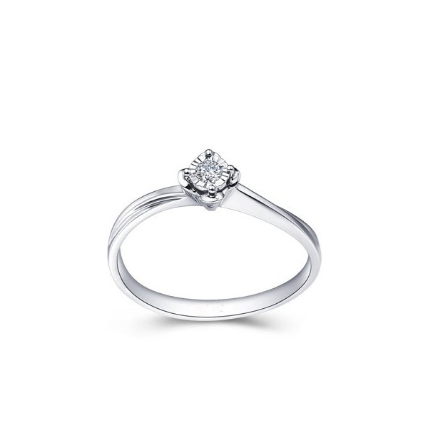 Magnetic Cheap Solitaire Ring 0 10 Carat Round Cut Diamond on 10k Gold Jeen