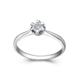Affordable Diamond Promise / Solitaire Ring on 10k White Gold