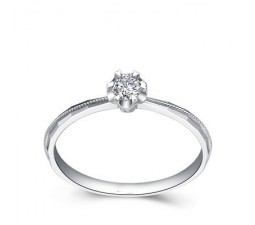 Solitaire Round Diamond Engagement Ring on Sale