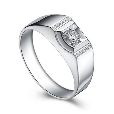 Affordable Men Diamond Wedding Band on Silver JeenJewels