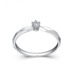 Affordable Solitaire Diamond Engagement Ring on Sale
