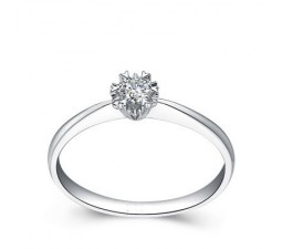 Heart Knots Round Diamond Solitaire Engagement Ring