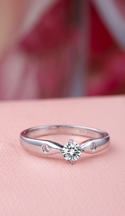 Diamond Solitaire Ring Diamond Engagement Ring 1 3 Carat Round Cut
