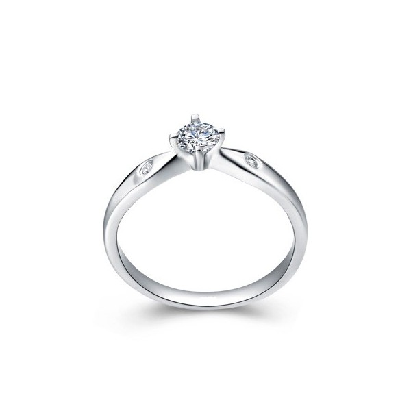 Diamond Solitaire Ring Diamond Engagement Ring 1 3 Carat