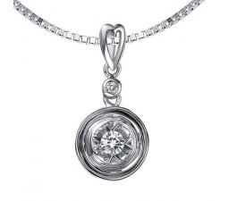 1/2 Carat Diamond Heart Pendant on 10k White Gold