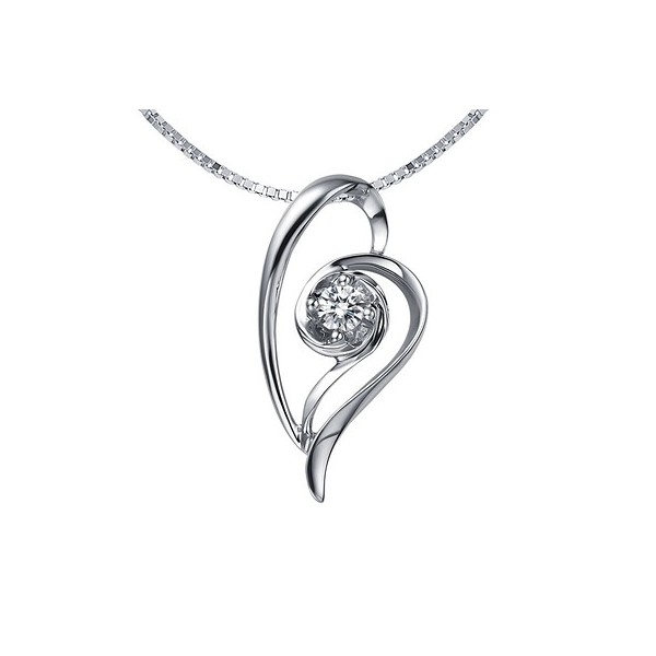 Affordable heart shape diamond pendant on 10k white gold jeenjewels 15 carat diamond heart pendant on 10k white gold aloadofball Gallery