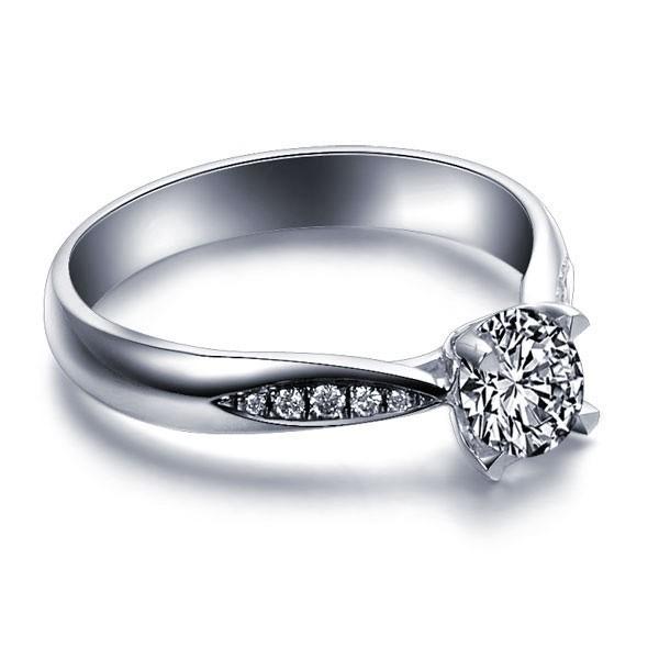 JeenJewels.com 0.75 CaratRound Cut DiamondDiamond Engagement Ring on 18K White Gold at Sears.com