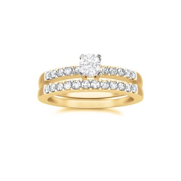 JeenJewels.com 1.00 CaratRound Cut DiamondWedding Set on 18K Yellow - Gold at Sears.com