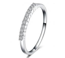 Closeout Sale: Half Carat Diamond Wedding Ring Band in White Gold