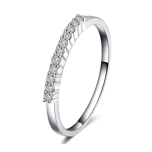 Closeout Sale: Half Carat Diamond Wedding Ring Band in White Gold