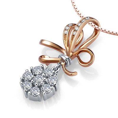 Luxurious unique diamond circle pendant on 18k rose gold jeenjewels 12 carat diamond circle pendant on 18k rose gold aloadofball Gallery