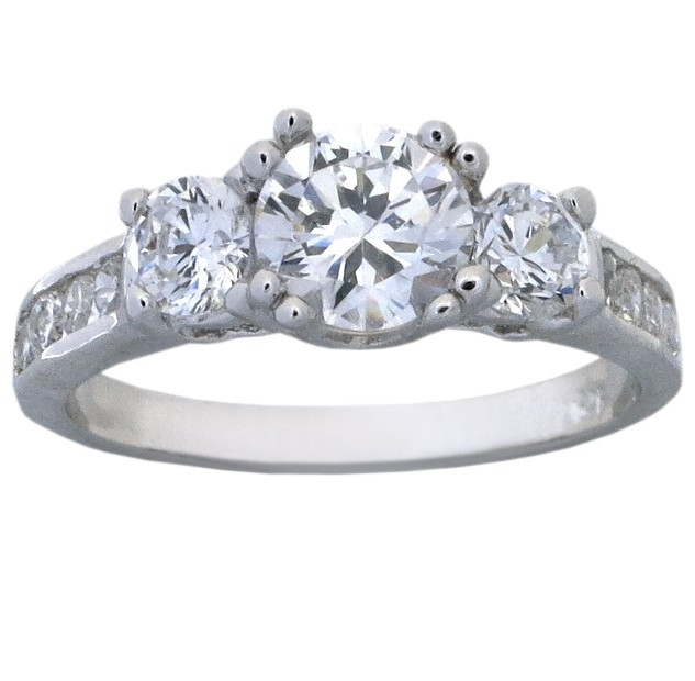 sterling silver cubic zirconia wedding rings