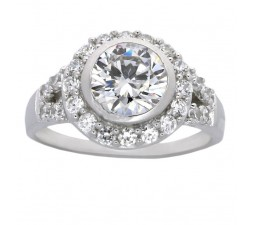 Luxurious 2 Carat Bezel Set Engagement Ring for Her