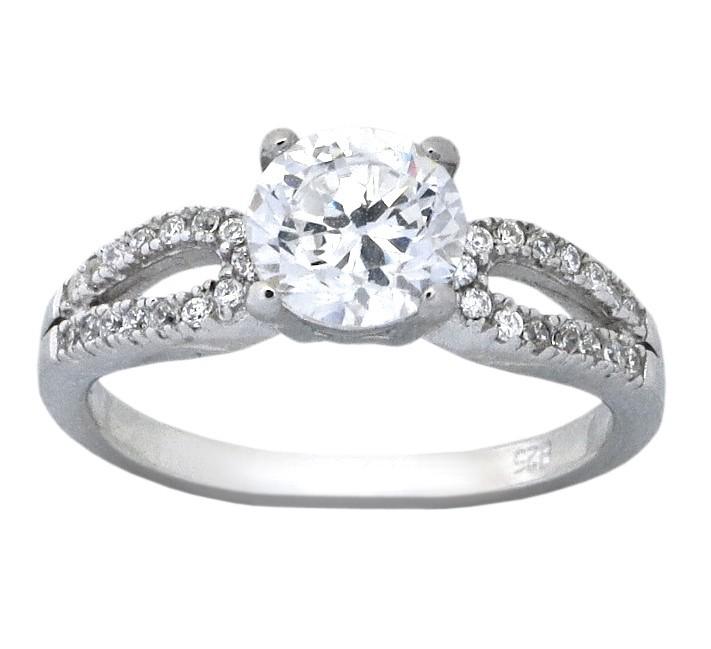 Classic 1 5 Carat Round Cubic Zirconium Engagement Ring for Her JeenJewels