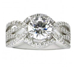 Wonderful 3 Carat Cubic Zirconium Round Engagement Ring for Women