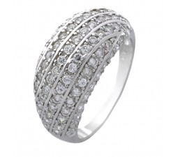 Antique 1.50 Carat Cubic Zirconia Anniversary Wedding Ring Band in 18k Gold over Sterling Silver