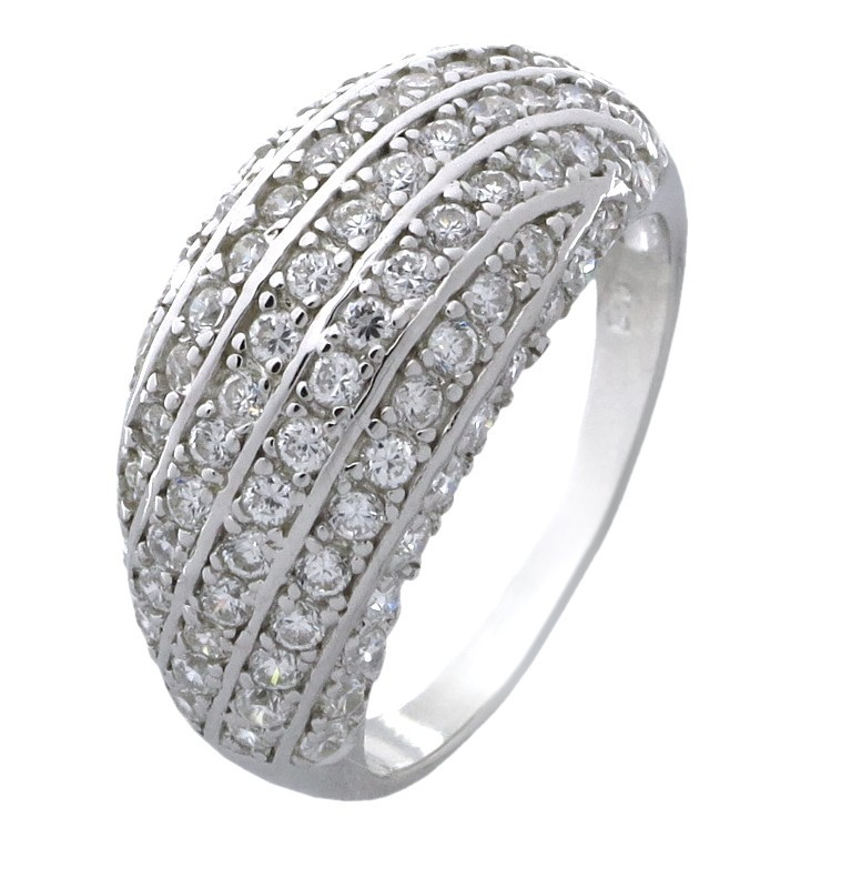 Antique 150 Carat Cubic Zirconia Anniversary Wedding Ring Band in