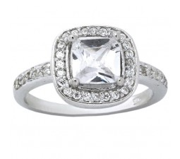 2 Carats Cushion Cut Cubic Zirconium Engagement Ring for Her
