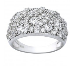 Luxurious 1 Carat Cubic Zirconia Women Wedding Ring Band