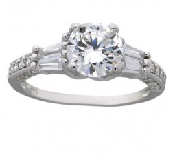 Luxurious 3 Carat Round Cubic Zirconium Engagement Ring for Her