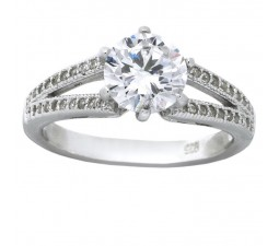 1.50 Carat Cubic Zirconia Round Engagement Ring