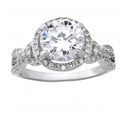 Beautiful 3 Carats Cubic Zirconia Round shape Engagement Ring for Her