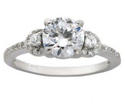 Designer 3 Carat Cubic Zirconium Round Engagement Ring for Women