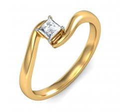 Half Carat Princess Solitaire Ring on Closeout Sale