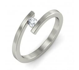 Round Solitaire Unique Diamond Engagement Ring