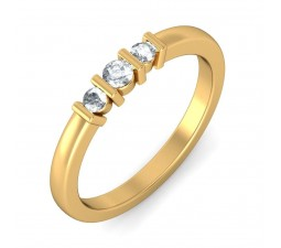 Three Stone Round Diamond Inexpensive Ring for Her