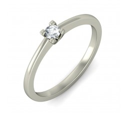 Closeout Sale on Round Diamond Solitaire Ring in White Gold