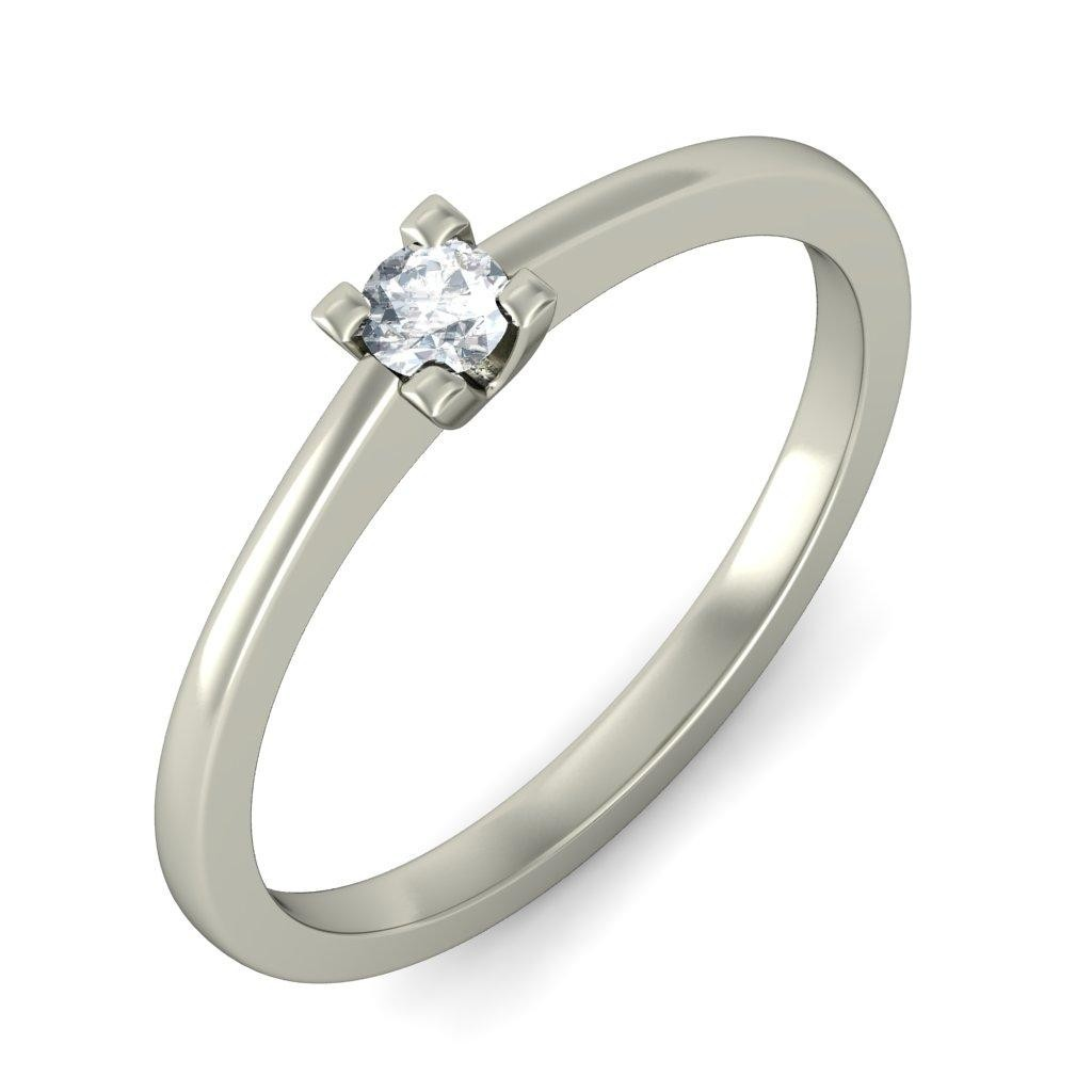 Closeout On Round Diamond Solitaire Ring In White Gold