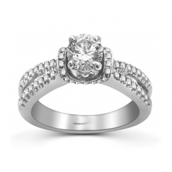 1.50 Carat Diamond Engagement Ring in White Gold