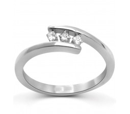 Three Stone Inexpensive Princess Cut Trilogy Ring
